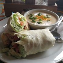 wrap and soup